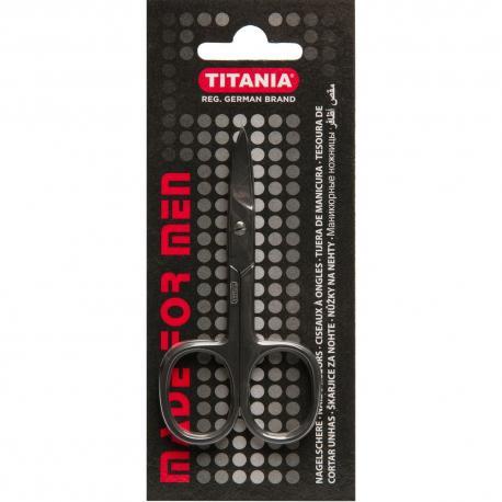 Nożyczki do paznokci dla mężczyzn czarne 1090/10N seria MADE FOR MEN Titania Niemcy