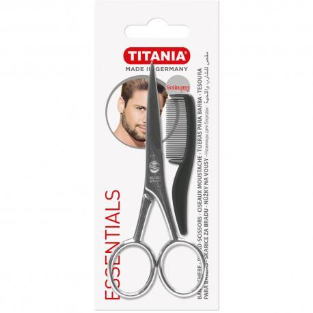 Titania 1050/9MENOP nożyczki do wąsów i brody z grzebykiem