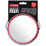 Powiekszające (x2) lusterko do golenia średnica 13cm 1500 seria MADE FOR MEN Titania Niemcy