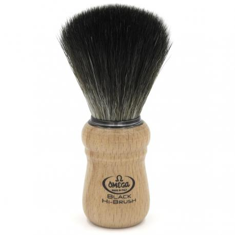 Pędzel do golenia Omega 0196228, syntetyk Black HI-BRUSH, buk
