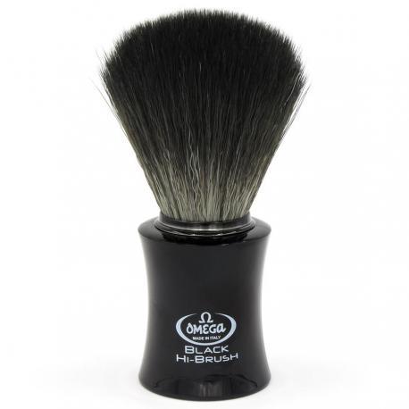 Pędzel do golenia Omega 0196818, syntetyk Black HI-BRUSH, czarny