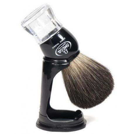 Pędzel do golenia Omega 63167, borsuk PURE, czarny