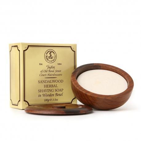Taylor SANDALWOOD luksusowe mydło do golenia w drewnianym tyglu 100 gr
