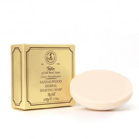 Taylor SANDALWOOD luksusowe mydło do golenia uzupełnienie (refill) 100 gr