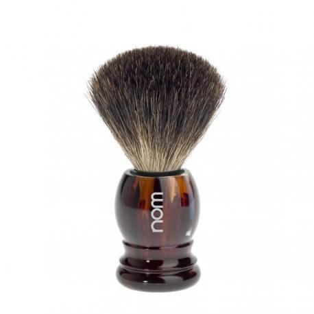 Pędzel do golenia z sierści borsuka HJM 181P23, borsuk PURE, uchwyt brąz