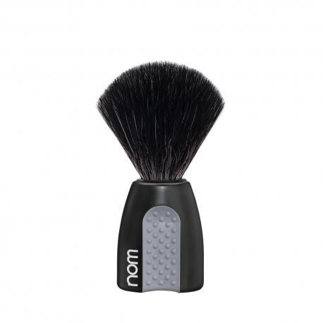 Pędzel do golenia HJM 21P8SGR, syntetyk BLACK FIBRES, uchwyt czarny i szary