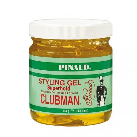 CLUBMAN Pinaud - męski żel do stylizacji włosów, mocne utrwalenie 453g