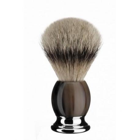 Pędzel do golenia Muhle SOPHIST 93B42, borsuk SILVERTIP, róg naturalny