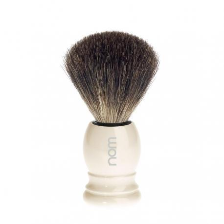 Pędzel do golenia HJM 181P27, borsuk PURE, uchwyt kremowy