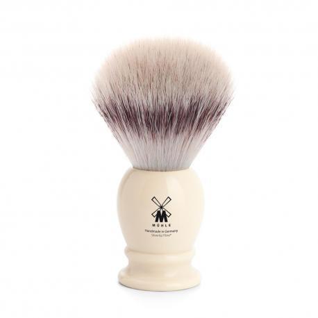 Pędzel do golenia Muhle CLASSIC 33K257, syntetyk SILVERTIP FIBRES, kremowy