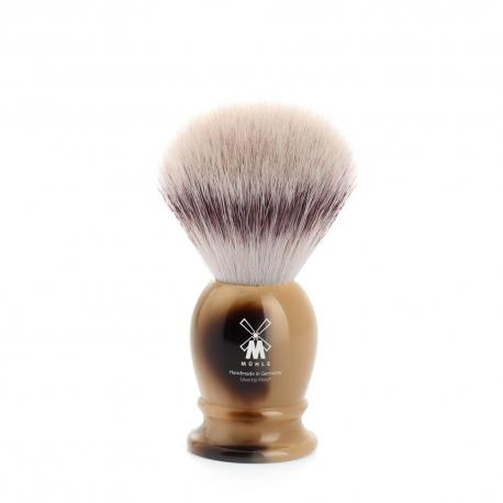 Pędzel do golenia Muhle CLASSIC 39K252, syntetyk SILVERTIP FIBRES, imitacja rogu