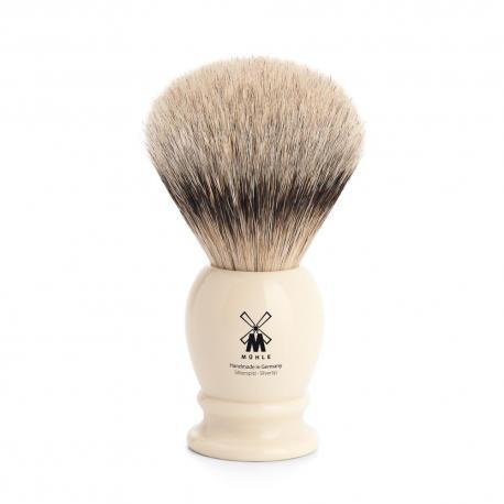 Pędzel do golenia Muhle CLASSIC 93K257, borsuk SILVERTIP, kremowy