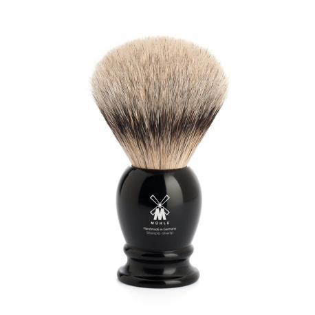Pędzel do golenia Muhle CLASSIC 93K256, borsuk SILVERTIP, czarny