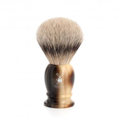 Pędzel do golenia Muhle CLASSIC 091K252, borsuk SILVERTIP, imitacja rogu