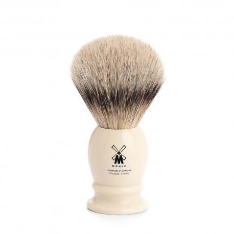 Pędzel do golenia Muhle CLASSIC 091K257, borsuk SILVERTIP, kremowy