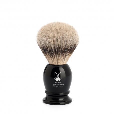 Pędzel do golenia Muhle CLASSIC 099K256, borsuk SILVERTIP, czarny