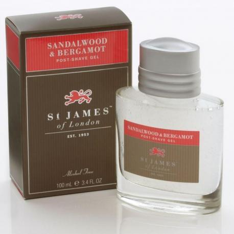 St. James od London Drzewo Sandałowe i Bergamotka żel po goleniu 100 ml