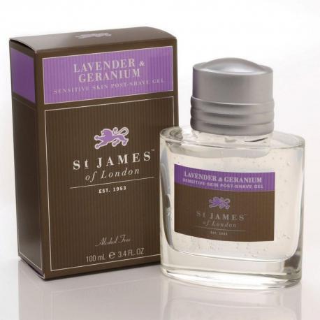 St. James od London Lawenda i Geranium żel po goleniu 100 ml