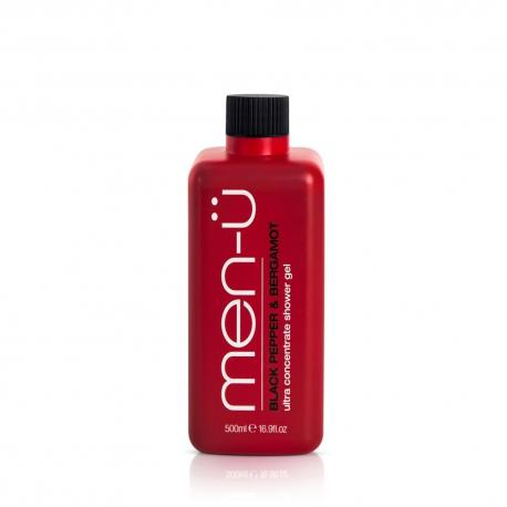 men-u ultrawydajny żel pod prysznic: czarny pieprz i bergamotka, XXL 500ml