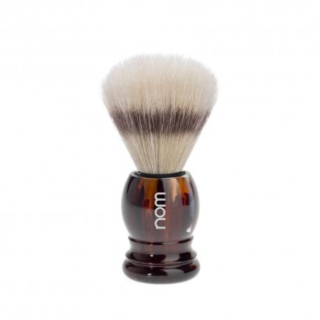 nom 41P23 pędzel do golenia naturalna szczecina uchwyt brąz