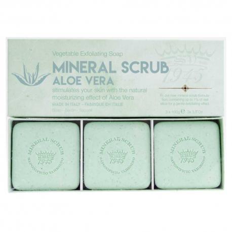 SAPONIFICIO VARESINO Mineral Scrub Aloe Vera zestaw mydeł na prezent