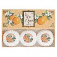 SAPONIFICIO VARESINO Citrus Orange zestaw mydeł na prezent