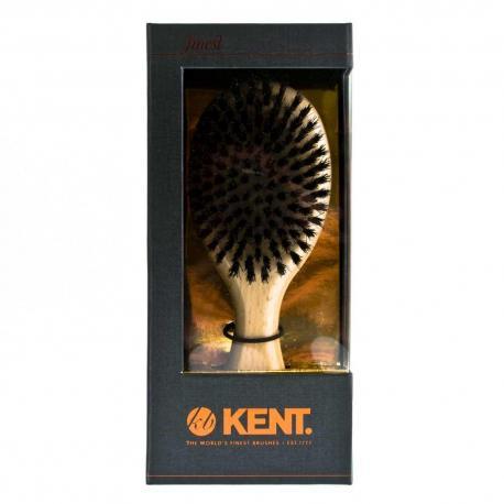 Szczotka do włosów KENT MENS CLUB OG1 OVAL buk, włosie czarne