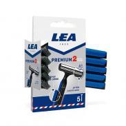 LEA PREMIUM 2 jednorazowe maszynki 2 ostrza 5szt