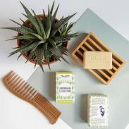 Klar Seifen Trawa cytrynowa i Aloes mydło do włosów 100g