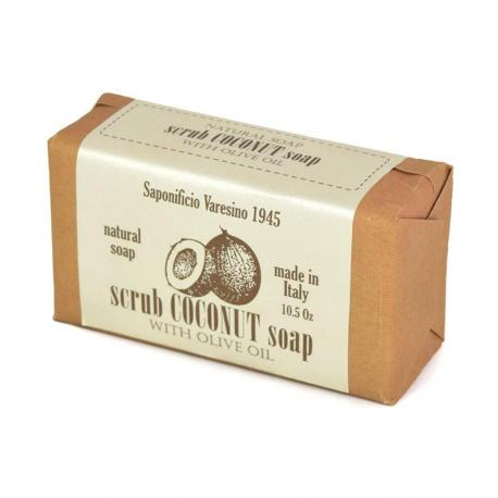 SAPONIFICIO VARESINO Scrub Coconut & Olive Oil mydło peelingujące 300g (papier)