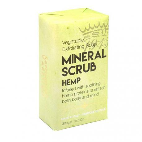 Saponificio Varesino Mineral Scrub Hemp mydło peelingujące konopne 300g (papier)