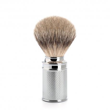 Pędzel do golenia Muhle DE 091M89, borsuk SILVERTIP, metal