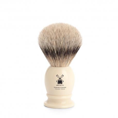 Pędzel do golenia Muhle CLASSIC 099K257, borsuk SILVERTIP, kremowy