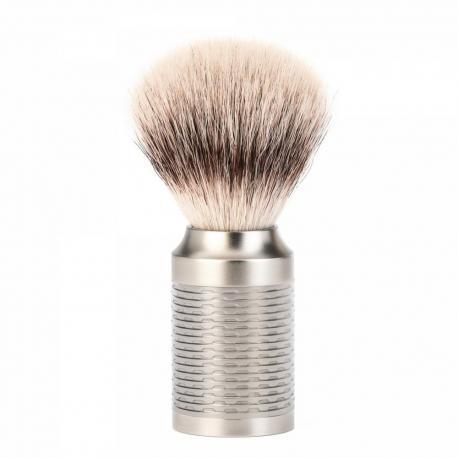 Pędzel do golenia Muhle ROCCA 31M94, syntetyk SilverTip Fibres, srebrny