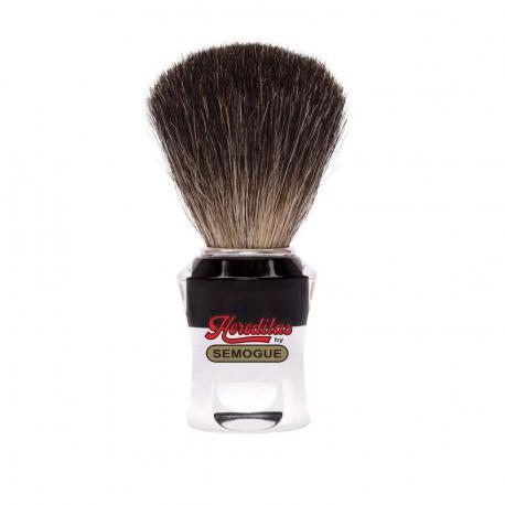 Pędzel do golenia SEMOGUE 740, borsuk purer, szkło akrylowe