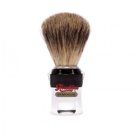 Pędzel do golenia SEMOGUE 750, borsuk best, szkło akrylowe