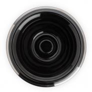 Muhle RN16 Miseczka do golenia porcelana czarna, platynowy brzeg