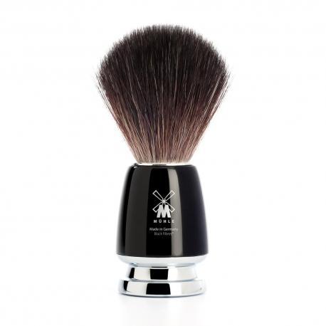 Pędzel do golenia Muhle RYTMO 21M226, syntetyk BLACK FIBRES, czarny