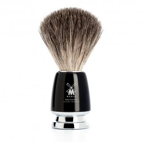 Pędzel do golenia Muhle RYTMO 81M226, borsuk PURE, czarny