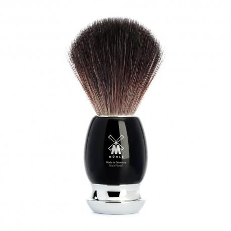 Pędzel do golenia Muhle VIVO 21M336, syntetyk BLACK FIBRES, czarny