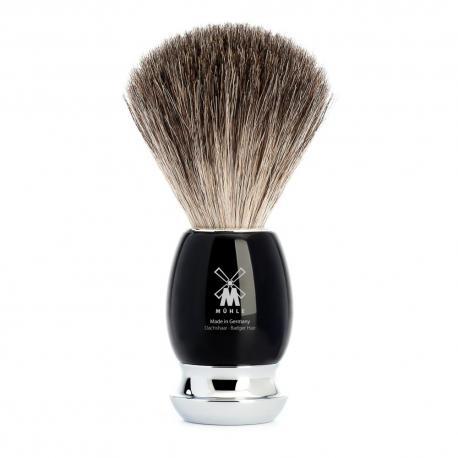 Pędzel do golenia Muhle VIVO 81M336, borsuk PURE, czarny