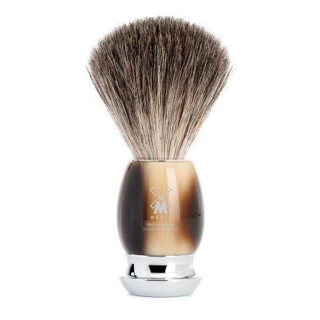Pędzel do golenia Muhle VIVO 81M332, borsuk PURE, imitacja rogu