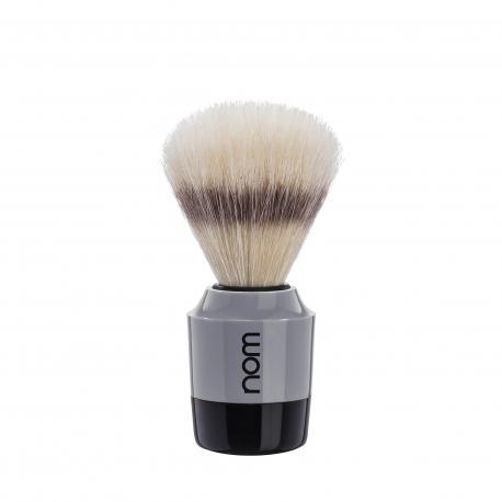 Pędzel do golenia nom MARTEN 41GR, naturalna szczecina, szaro-czarny