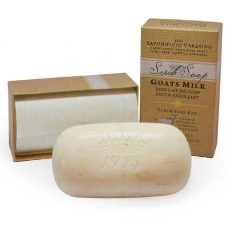 Saponificio Varesino Scrub Goats Milk mydło peelingujące Kozie Mleko 300g (kartonik)