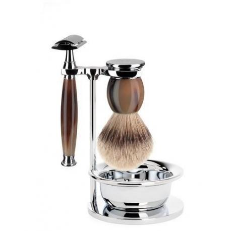 Zestaw do golenia Muhle SOPHIST S93B42SSR naturalny róg 4 częściowy