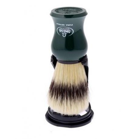 Pędzel do golenia Omega 80265GR, naturalna szczecina, zielony