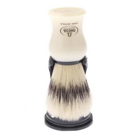 Pędzel do golenia Omega 80266IV, naturalna szczecina, kremowy