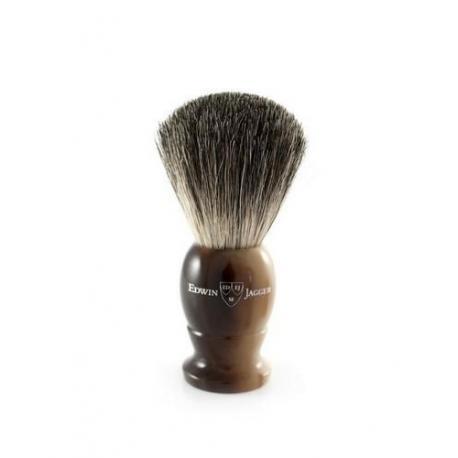 Pędzel do golenia Edwin Jagger 9EJ872, borsuk BEST, uchwyt imitacja jasnego rogu