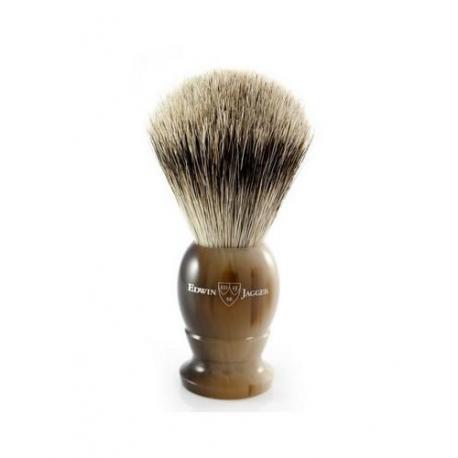 Pędzel do golenia Edwin Jagger 1EJ872, borsuk BEST, uchwyt imitacja jasnego rogu