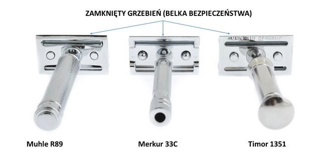 Maszynka do golenia zamknięty grzebień
